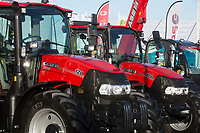 Case IH tractors at a show <br /> &copy;Tim Scrivener Photographer 07850 303986<br /> ....Covering Agriculture In The UK....