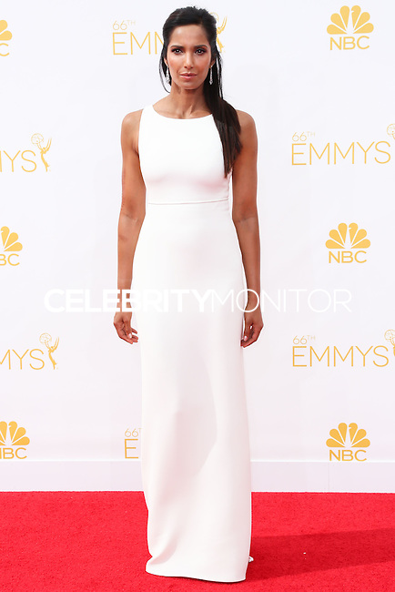 LOS ANGELES, CA, USA - AUGUST 25: Padma Lakshmi arrives at the 66th Annual Primetime Emmy Awards held at Nokia Theatre L.A. Live on August 25, 2014 in Los Angeles, California, United States. (Photo by Celebrity Monitor)