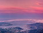 Dusk, San Francisco, Sausalito, Southern Marin County, California