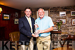 Waterville Captains prize was won by Ger McSweeney(13) with 39 points on Saturday pictured here with Aidan O'Connell Captain Waterville Golf Club. in 2nd  Shane Lowney(12) 39pts, 3rd Eamon McGillicuddy(15) 38pts, BG John O'Neill(3) 73 4th David Farrell(11) 38pts, Past Captain Jack Fitzpatrick(21) 35pts, Visitor Craig Newell(24) 30pts, F.9 Ger O'Driscoll(13) 20pts, B.9 Ger McGillicuddy(24) 21pts and the Ladies 9 Hole comp went to Phil Price(30) with 20pts.