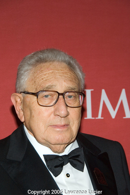 Former U.S. Secretary of State Henry Kissinger arrives May 8, 2007 for the TIME 100 Gala at Jazz at Lincoln Center in New York City to celebrate the 100 most influential people in the world.  (Pictured : HENRY KISSINGER)