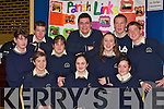 Colaiste na Sceilige, Caherciveen pupils Front row l-r: Aine Sheehan, Maeve Dineen, Stacy O'Domoghue. Back row: Roisin Sheehan, John Coffey, Eileen Moran, Conor Curtin, Edel Ni? Bhraonin, Martin O'Sullivan and Stephen Browne at the Kerry Diocean School project in the Dromhall Hotel Killarney on Thursday    Copyright Kerry's Eye 2008