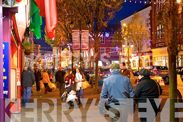 Christmas lights in Tralee on Sunday.