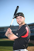 Michael Gettys (23) of the Lake Elsinore Storm poses for a photo before a game against the Lancaster JetHawks at The Hanger on August 2, 2016 in Lancaster, California. Lake Elsinore defeated Lancaster, 10-9. (Larry Goren/Four Seam Images)