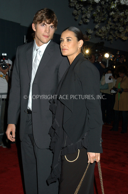 WWW.ACEPIXS.COM . . . . . ....NEW YORK, APRIL 18, 2005....Demi Moore and Ashton Kutcher at the premiere of 'A Lot Like Love' at the Clearview Chelsea West. ....Please byline: KRISTIN CALLAHAN - ACE PICTURES.. . . . . . ..Ace Pictures, Inc:  ..Craig Ashby (212) 243-8787..e-mail: picturedesk@acepixs.com..web: http://www.acepixs.com