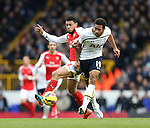 Tottenham's Mousa Dembele tussles with Arsenal's Francis Coquelin<br /> <br /> Barclays Premier League- Tottenham Hotspurs vs Arsenal  - White Hart Lane - England - 7th February 2015 - Picture David Klein/Sportimage