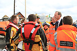 Minister Simon Coveney meeting with members of the Naval Service, Garda Under Water Unit, Drogheda Coast Guard, Skerries Coast Guard and Howth Coast Guard and Members of the RNLI who are taking part in the search for the two missing men since last friday night..Picture: Fran Caffrey / www.newsfile.ie.Minister Simon Coveney meeting with members of the Naval Service, Garda Under Water Unit, Drogheda Coast Guard, Skerries Coast Guard and Howth Coast Guard and Members of the RNLI who are taking part in the search for the two missing men since last friday night..Picture: Fran Caffrey / www.newsfile.ie.
