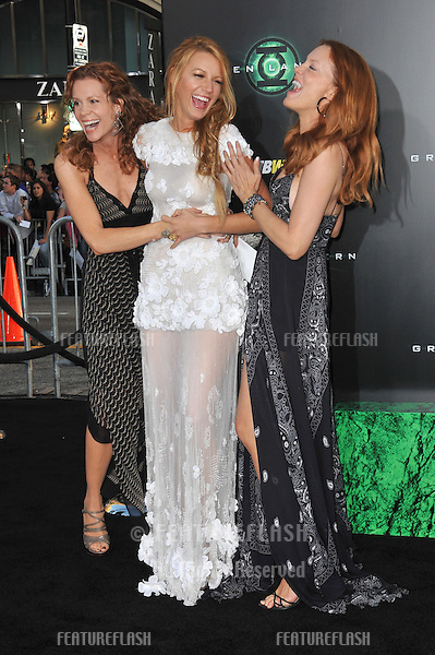 "Blake Lively & sisters at the world premiere of her new movie ""Green Lantern"" at Grauman's Chinese Theatre, Hollywood..June 15, 2011  Los Angeles, CA.Picture: Paul Smith / Featureflash"