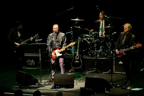Dave Davies - brother of Ray Davies and former lead guitarist of The Kinks performing live for the first time in 13 years at the Barbican Hall in London UK - 11 April 2014.  Photo credit: Gorge Chin/IconicPix