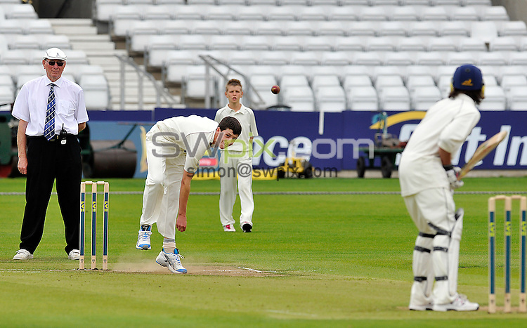 PICTURE BY OSKAR VIEROD/SWPIX.COM - Cricket - Yorkshire Post Cricket Challenge 2011 - Headingley, Leeds, England - 25/07/11 - Easingwold School's Matthew Fisher (aged 13) delivers the ball.