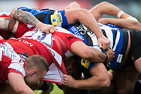 A general view of a scrum. Aviva Premiership match, between Bath Rugby and Gloucester Rugby on October 29, 2017 at the Recreation Ground in Bath, England. Photo by: Patrick Khachfe / Onside Images
