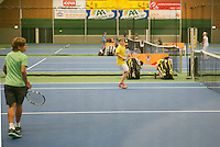 20131201,Netherlands, Almere,  National Tennis Center, Tennis, Winter Youth Circuit, ,   warming up<br /> Photo: Henk Koster