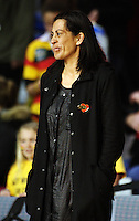 Magic coach Noeline Taurua after the loss during the ANZ Netball Championship match between the Waikato Bay of Plenty Magic and Adelaide Thunderbirds, Mystery Creek Events Centre, Hamilton, New Zealand on Sunday 19 July 2009. Photo: Dave Lintott / lintottphoto.co.nz