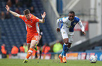 Blackburn Rovers' Amari'i Bell and Blackpool's Daniel Philliskirk in action during todays match<br /> <br /> Photographer Rachel Holborn/CameraSport<br /> <br /> The EFL Sky Bet League One - Blackburn Rovers v Blackpool - Saturday 10th March 2018 - Ewood Park - Blackburn<br /> <br /> World Copyright &copy; 2018 CameraSport. All rights reserved. 43 Linden Ave. Countesthorpe. Leicester. England. LE8 5PG - Tel: +44 (0) 116 277 4147 - admin@camerasport.com - www.camerasport.com