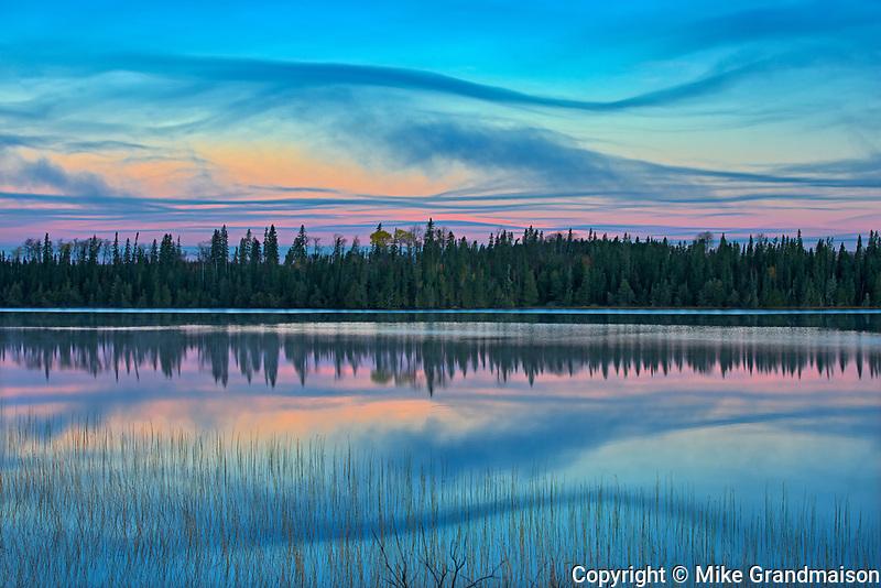 Dawn light on Klotz Lake<br />Longlac<br />Ontario<br />Canada