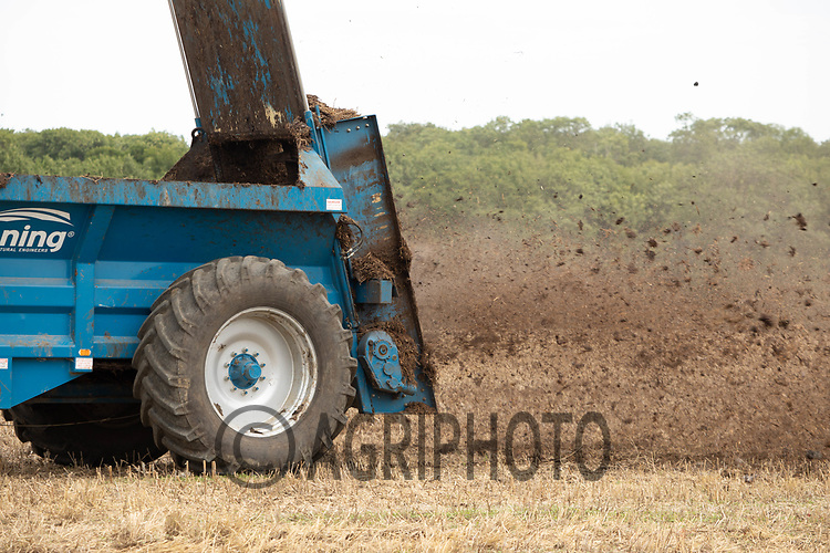 23.7.2020 Spreading Farmyard manure <br /> ©Tim Scrivener Photographer 07850 303986<br />      ....Covering Agriculture In The UK.