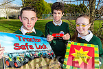 Killorglin Community College students Jack Nagle, Timothy McGrath and Natasha Myers who have projects included inthe BT Young Scientist exhibition in Dublin on Wednesday 10th January