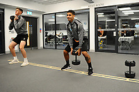 Kyle Naughton of Swansea City in the gym during the Swansea City Training at The Fairwood Training Ground, Swansea, Wales, UK. Tuesday 15 January 2019