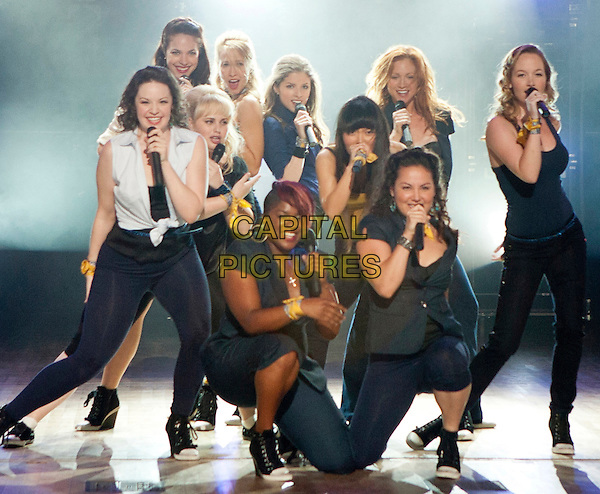 SHELLEY REGNER, ALEXIS KNAPP, REBEL WILSON, ANNA CAMP, ESTER DEAN, ANNA KENDRICK, HANA MAE LEE, WANETAH WALMSLEY, BRITTANY SNOW, KELLEY ALICE JAKLE.in Pitch Perfect (2012) .*Filmstill - Editorial Use Only*.CAP/FB.Supplied by Capital Pictures.