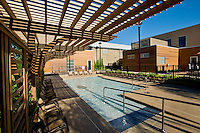 Swimming pool area of the Midtown Athletic Club in Forest Grove, IL designed by Stewart Nsoky Architects.