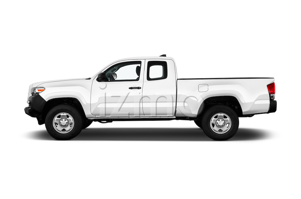 Car Driver side profile view of a 2017 Toyota Tacoma SR-Access 4 Door Pick-up Side View