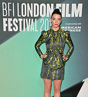 Anya Taylor-Joy at the &quot;Thoroughbreds&quot; 61st BFI LFF Official Competition screening, Embankment Garden Cinema, Villiers Street, London, England, UK, on Monday 09 October 2017.<br /> CAP/CAN<br /> &copy;CAN/Capital Pictures