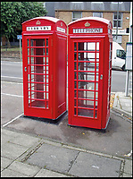 BNPS.co.uk (01202 558833)<br /> Pic: AmberleyPublishing/BNPS<br /> <br /> When the K6 kiosk on the right in South Bar Street, Banbury, was converted into a library without permission, the ensuing dispute was eventually resolved when BT agreed to install a second K6 on the left as a purpose-built library.<br /> <br /> The iconic British phonebox has been given a ringing endorsement in a new book charting the expiring institution's fascinating history. <br /> <br /> Aptly titled 'The British Phonebox', the book primarily focuses on the ubiquitous design that's as emblematic to Britain as the black cab, double decker bus and Houses of Parliament. <br /> <br /> Equally interesting are the early chapters, which detail the phonebox's humble 19th century beginnings and the final ones, that bemoan their dwindling numbers <br /> <br /> The 96 page paperback, jointly authored by friends Nigel Linge and Andy Sutton, is published by Amberley and costs &pound;13.49.