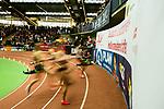 17.02.2018,  Helmut-K&ouml;rnig-Halle, Dortmund, GER, Deutsche Leichtathletik Meisterschaften Dortmund 2018, <br /> <br /> im Bild | picture shows:<br /> Vorlauf 60 m der Frauen | Feature | Wischer, <br /> <br /> <br /> Foto &copy; nordphoto / Rauch