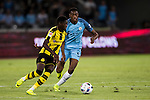 Borussia Dortmund striker Ousmane Dembele (l) during the match against Manchester City FC at the 2016 International Champions Cup China match at the Shenzhen Stadium on 28 July 2016 in Shenzhen, China. Photo by Victor Fraile / Power Sport Images