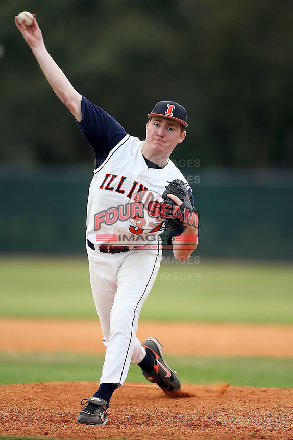 February 22, 2009:  Pitcher Will Stack (37) of the University of Illinois during the Big East-Big Ten Challenge at Naimoli Complex in St. Petersburg, FL.  Photo by:  Mike Janes/Four Seam Images