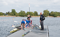 Brandenburg. GERMANY. GBR W4X, Boating at the 2016 European Rowing Championships at the Regattastrecke Beetzsee<br /> <br /> Wednesday  04/05/2016<br /> <br /> [Mandatory Credit; Peter SPURRIER/Intersport-images]