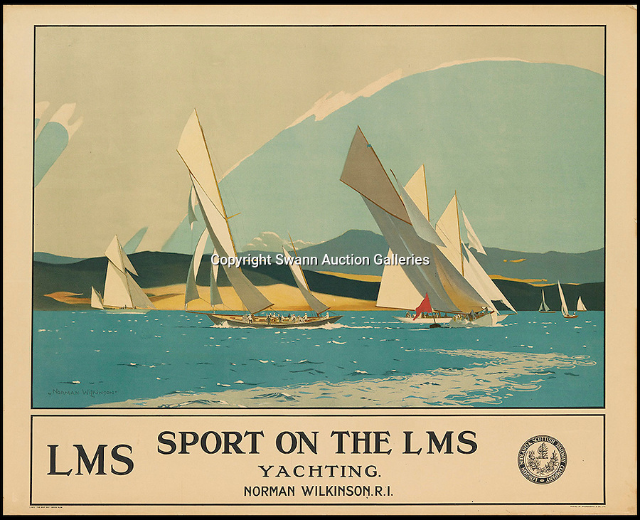 BNPS.co.uk (01202 558833)<br /> Pic: SwannGalleries/BNPS<br /> <br /> ***Please Use Full Byline***<br /> <br /> Solent Sailing - 1924 - £3000.<br /> <br /> Beautiful posters from the halcyon days of travel up for auction.<br /> <br /> Scarce vintage travel posters promoting holidays across the globe in the 1920's and 30's are tipped to sell for over £200,000 .<br /> <br /> The fine collection of 200 works of art that hark back to the halcyon days of train and boat travel have been brought together for sale.<br /> <br /> The posters were used to advertise dream holiday destinations in far-flung places such as the US and Australia and to celebrate the luxurious ways of getting to them.<br /> <br /> Most of the advertising posters date back to the 1930s and are Art Deco in style and they are all from the original print-run.