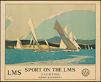 BNPS.co.uk (01202 558833)<br /> Pic: SwannGalleries/BNPS<br /> <br /> ***Please Use Full Byline***<br /> <br /> Solent Sailing - 1924 - &pound;3000.<br /> <br /> Beautiful posters from the halcyon days of travel up for auction.<br /> <br /> Scarce vintage travel posters promoting holidays across the globe in the 1920's and 30's are tipped to sell for over &pound;200,000 .<br /> <br /> The fine collection of 200 works of art that hark back to the halcyon days of train and boat travel have been brought together for sale.<br /> <br /> The posters were used to advertise dream holiday destinations in far-flung places such as the US and Australia and to celebrate the luxurious ways of getting to them.<br /> <br /> Most of the advertising posters date back to the 1930s and are Art Deco in style and they are all from the original print-run.
