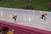 SPEEDSKATING: HAMAR: Vikingskipet, 29-02-2020, ISU World Speed Skating Championships, Sprint, 1000m Ladies, Jorien ter Mors (NED), Jutta Leerdam (NED), ©photo Martin de Jong