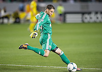 CARSON, CA - March 2, 2013: Columbus goalie Andy Gruenebaum (30) during the Chivas USA vs Columbus Crew match at the Home Depot Center in Carson, California. Final score, Chivas USA 0, Columbus Crew 3.