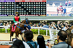 Racegoers view horses in the paddock before a race during Hong Kong Racing at Happy Valley Racecourse on September 05, 2018 in Hong Kong, Hong Kong. Photo by Yu Chun Christopher Wong / Power Sport Images