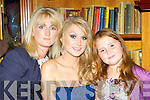 Rachel O'Sullivan Castleisland with her mum Audrey and sister Ciara at the Rose of Con's in the River Island Hotel on Friday night........