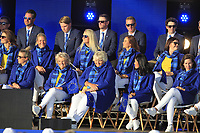 Some of the European Team during the Opening Ceremony of the Solheim Cup 2019 at Gleneagles Golf CLub, Auchterarder, Perthshire, Scotland. 12/09/2019.<br /> Picture Thos Caffrey / Golffile.ie<br /> <br /> All photo usage must carry mandatory copyright credit (© Golffile | Thos Caffrey)