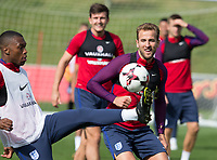 Harry Kane during the part open training session of the  England national football squad at St George's Park, Burton-Upon-Trent, England on 31 August 2017. Photo by James Williamson.