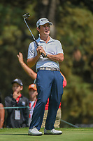 Brian Harman (USA) reacts to barely missing  his putt on 11 during round 2 of the World Golf Championships, Mexico, Club De Golf Chapultepec, Mexico City, Mexico. 3/2/2018.<br /> Picture: Golffile | Ken Murray<br /> <br /> <br /> All photo usage must carry mandatory copyright credit (&copy; Golffile | Ken Murray)