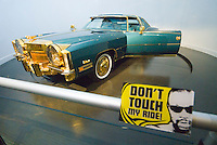 Memphis, Tennessee, February 2009. Isaac Hayes' gold rimmed limousine. The Soulsville USA Stax Museum is stuffed to the ceiling with exhibits from the blues, soul and rock 'n roll era, when the famous recording studio and record label made its fame. The city of Memphis is the place where Blues and Soul Music grew famous. Photo by Frits Meyst/Adventure4ever.com