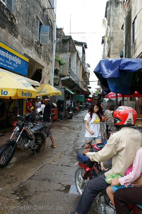 street scene in Phnom Penh, Cambodia, August 2011