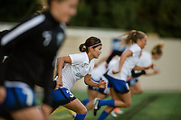 Seattle, WA - Sunday, September 11 2016: Seattle Reign FC forward Nahomi Kawasumi (36) warms up prior to a regular season National Women's Soccer League (NWSL) match between the Seattle Reign FC and the Washington Spirit at Memorial Stadium. Seattle won 2-0.