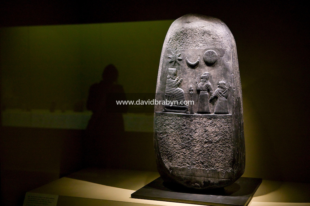 .on display in the Babylon exhibit at the Louvre museum in Paris, France, during a press preview, 11 March 2008.