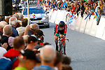 Domingos Goncalves (POR) during the Men's Elite Individual Time Trial of the 2018 UCI Road World Championships running 52.5km from Wattens to Innsbruck, Innsbruck-Tirol, Austria 2018. 26th September 2018.<br /> Picture: Innsbruck-Tirol 2018/BettiniPhoto | Cyclefile<br /> <br /> <br /> All photos usage must carry mandatory copyright credit (© Cyclefile | Innsbruck-Tirol 2018/BettiniPhoto)