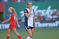Portland, OR - Saturday July 22, 2017: Shelina Zadorsky during a regular season National Women's Soccer League (NWSL) match between the Portland Thorns FC and the Washington Spirit at Providence Park.