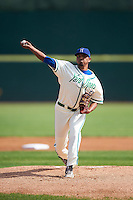 Hartford Yard Goats starting pitcher German Marquez (54) during the first game of a doubleheader against the Trenton Thunder on June 1, 2016 at Sen. Thomas J. Dodd Memorial Stadium in Norwich, Connecticut.  Trenton defeated Hartford 4-2.  (Mike Janes/Four Seam Images)