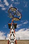 Oldtown Museum-Burlington, Colorado--wooden vainless windmill.
