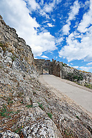 The road to Lion Gate (1.240 B.C.) Mycenae, Greece