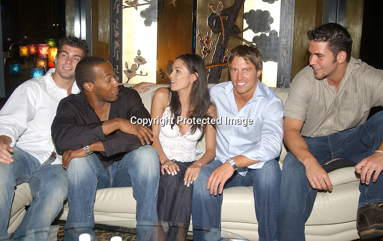 ..Jamie Newton, McKinley Freeman, Terri Ivens, Douglas ..Seibert and Andrew Springer ..at a party for the finalists in All My Children's Sexiest Man ..Alive Contest at Planet Hollywood  on September 13, 2003. Photo by Robin Platzer, Twin Images